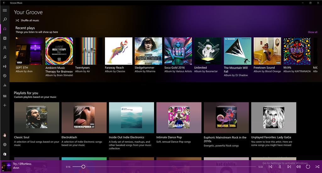 Groove音乐 Win10版更新简洁易用收获好评