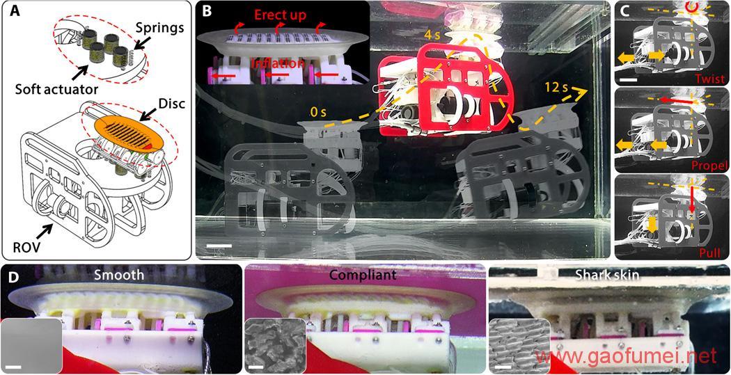 80后教授的新款仿生机器人可以黏在鲨鱼身上搭顺风车 仿生科技 第8张-泥人传说