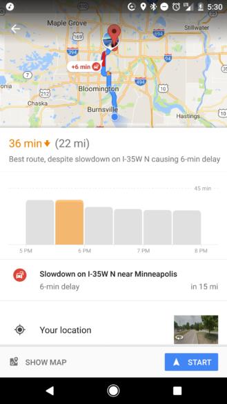 谷歌地图推出出行时间推荐功能从源头引导用户出行帮助治堵
