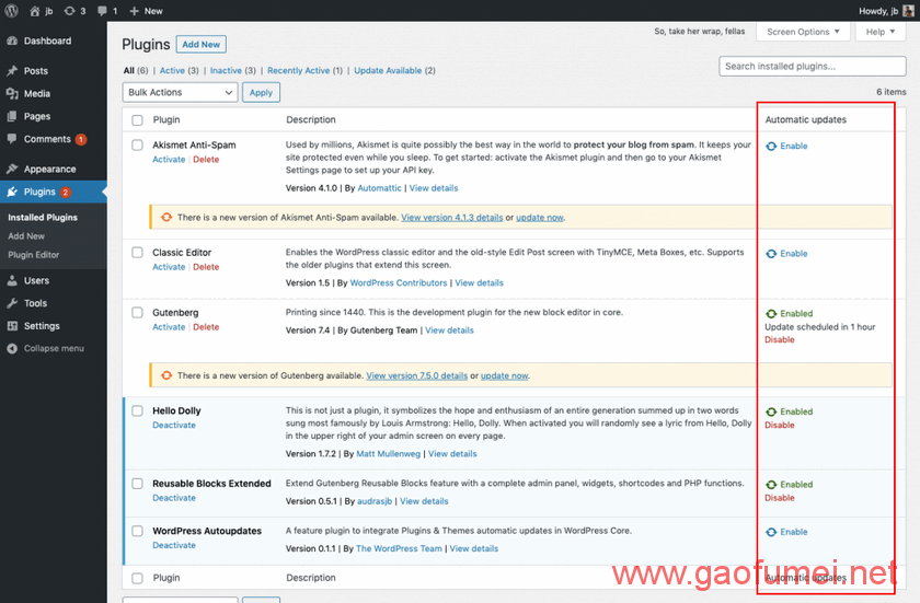 WordPress 5.5或将带来插件和主题自动更新功能 wordpress 第2张-泥人传说